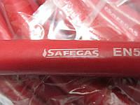 Газовый шланг рукав 9 мм красный Safegas