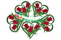 Сердце с тюльпанами