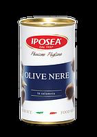 IPOSEA Olive nere denocciolate - Маслины черные без косточки  370g
