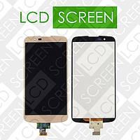 Дисплей для LG K10 LTE K420N K430DS с сенсорным экраном, золотистый, модуль ( дисплей + тачскрин )