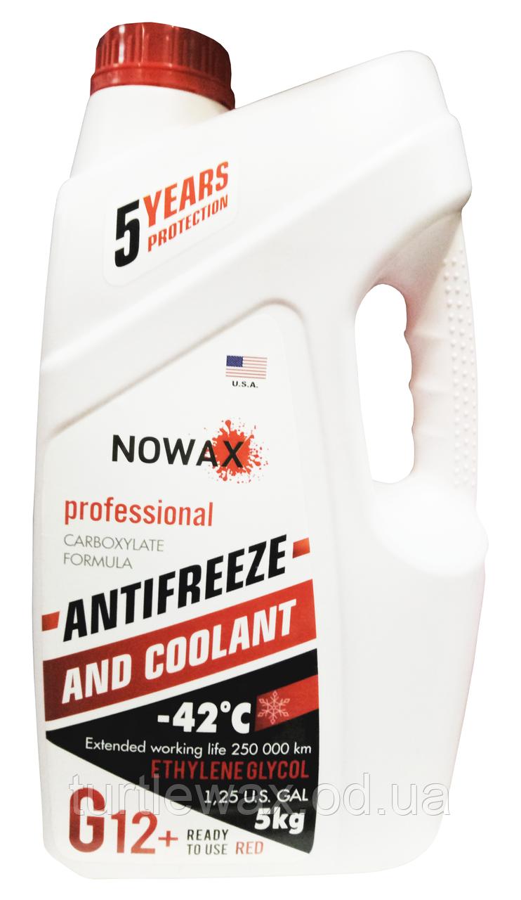 Антифриз Nowax G12 -40°C красный, 5л