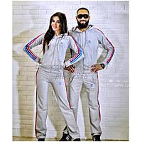 Спортивные костюмы для девушек и мужчин Adidas с цветными полосами