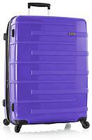 Чемодан пластиковый большой на четырёх колёсах  Heys Helios compact (L) Purple 92 л. 923625 фиолетовый