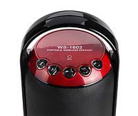 Портативная беспроводная колонка Portable wireless speaker WS-1602 (музыкальная колонка  bluetooth WS-1602), фото 1
