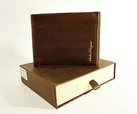 Мужской кожаный кошелёк Salvatore Ferragamo