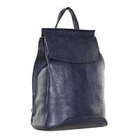 Кожаный рюкзак городской, сумка Valensiy 83003 синий, 32*22*16 см