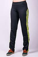 Черные прямые спортивные брюки женские штаны с лампасами трикотажные Украина