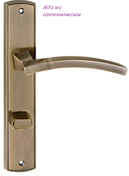 Дверная ручка Alfa  бронза