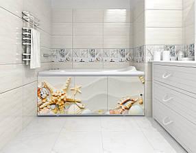 Екран панель під ванну МетаКам Преміум Арт трьохдверний 150x60