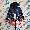 Демисезонная  детская  куртка в цветочки на девочку GRACE