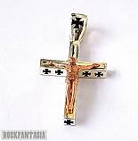 Серебряный мужской крестик с распятием байкерский, подарок байкеру, фото 3