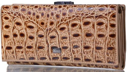 Оригинальный женский кожаный кошелек WANLIMA (ВАНЛИМА) W500423229-cream