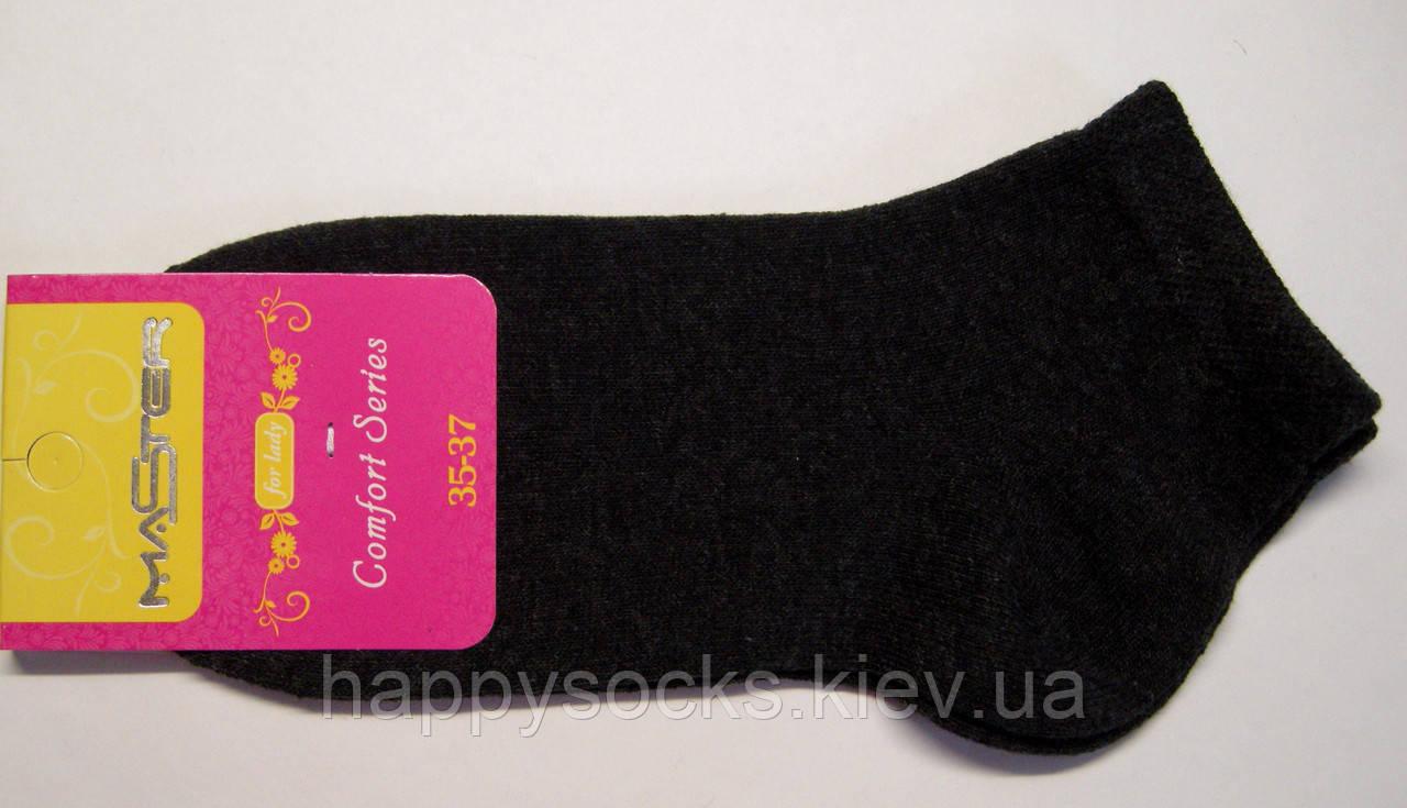 Укороченные женские носки темно-серого цвета