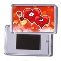 """Акриловий сувенірний магніт на холодильник """"Два серця"""""""
