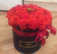Цветы в подарочной коробке VIP