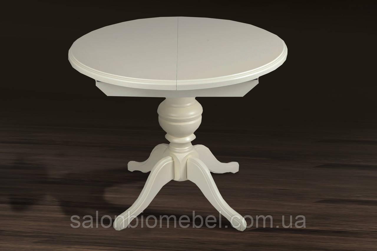 Стол обеденный круглый раскладной Гермес