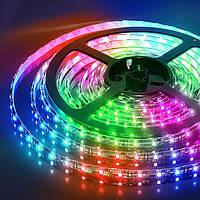 Светодиодная лента RGB Rishang SMD 5050/60, цветная, 60 диодов/м 12Вт IP33