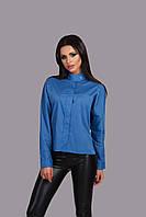 """Стильная женская блуза """"Santal"""" с воротником стойкой и длинным рукавом (3 цвета)"""