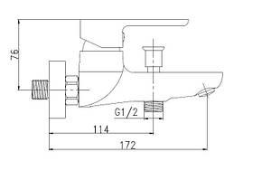 Смеситель для ванны Invena Kastos BW-16-001, фото 2