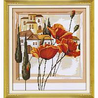 Картина маслом - цветы. Набор для вышивания нитками