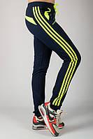 Спортивные штаны женские брюки с лампасами трикотажные на резинке (манжет) Украина
