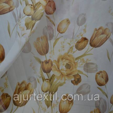 Тюль коричневый тюльпан, фото 2
