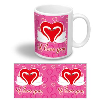 """Керамічна чашка """"I love you"""" на 14 лютого"""