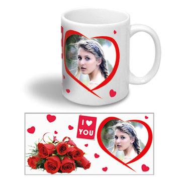 """Керамическая чашка на 14 февраля """"I LOVE YOU"""""""