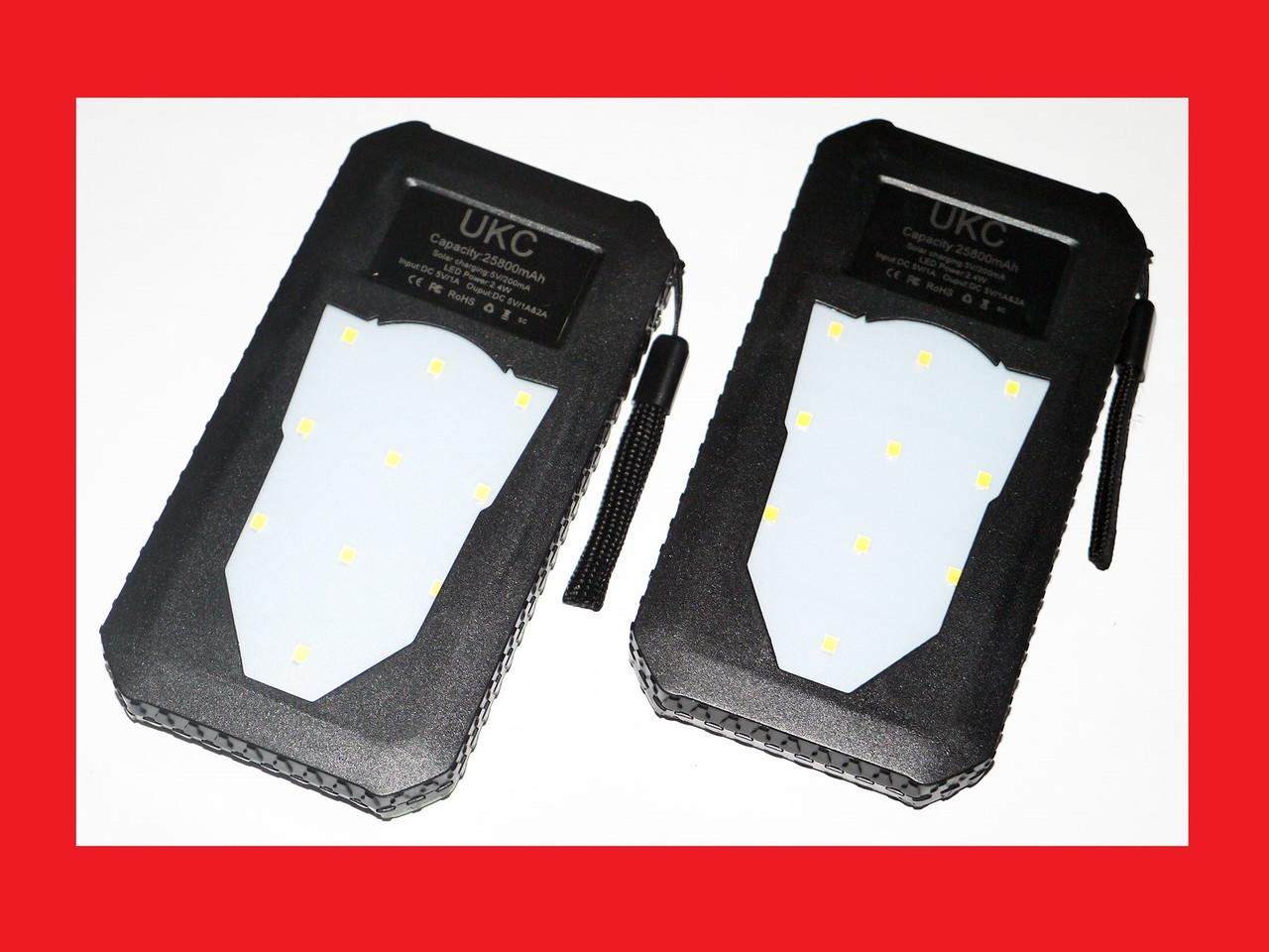 UKC 25800 mAh Solar Charger  Power Bank Солнечное зарядное устройство