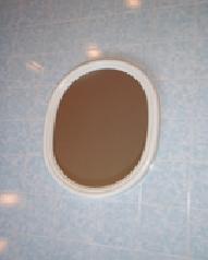 Зеркало Овал белое