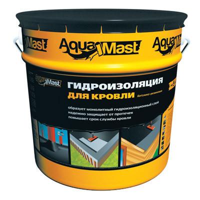 Мастика гидроизоляционная битумно-резиновая для кровли AquaMast 18 кг
