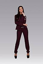 """Брючный женский деловой костюм """"Damask"""" с жакетом (3 цвета), фото 3"""