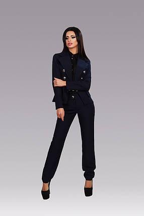 """Брючный женский деловой костюм """"Damask"""" с жакетом (3 цвета), фото 2"""