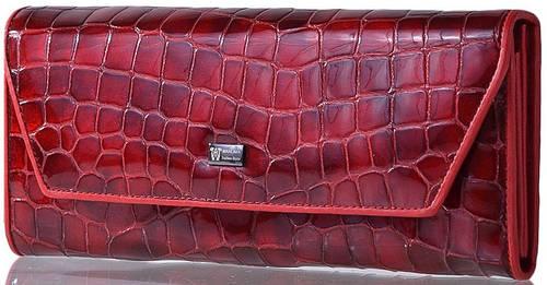 Элегантный, стильный кожаный женский кошелек WANLIMA (ВАНЛИМА) W82042840166 красный