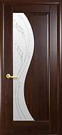 """Межкомнатные двери """" Эскада со стеклом сатин и рисунком Р2 """""""
