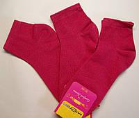 Однотонные женские малинового цвета укороченные носки