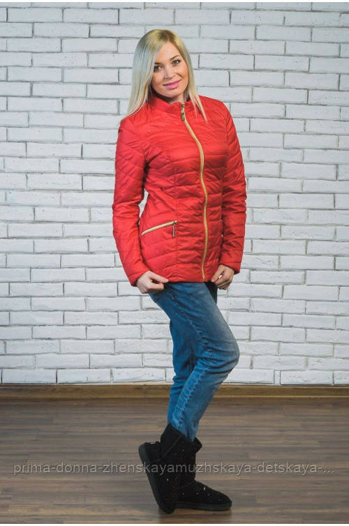 1662f045b70 Женская Короткая Куртка Демисезон Красная 44