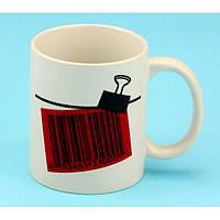 Чашка-хамелеон Штрих-код любви ко Дню Влюбленных