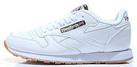 Женские кроссовки Reebok Classic Leather White (Рибок) белые