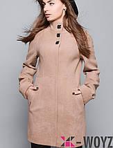 Женское черное пальто по фигуре (8587 xw), фото 3