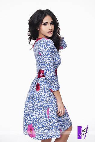 Принтованное платье со складками с застежкой на потайную молнию, фото 2