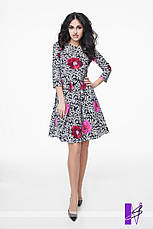 Принтованное платье со складками с застежкой на потайную молнию, фото 3
