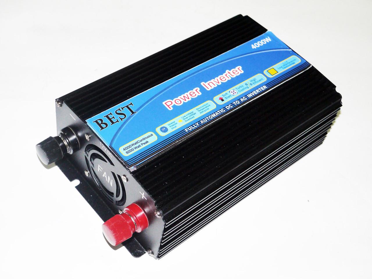 Инвертор преобразователь 12В 4000Вт