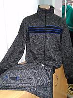Спортивный флисовый костюм для мужчин серый