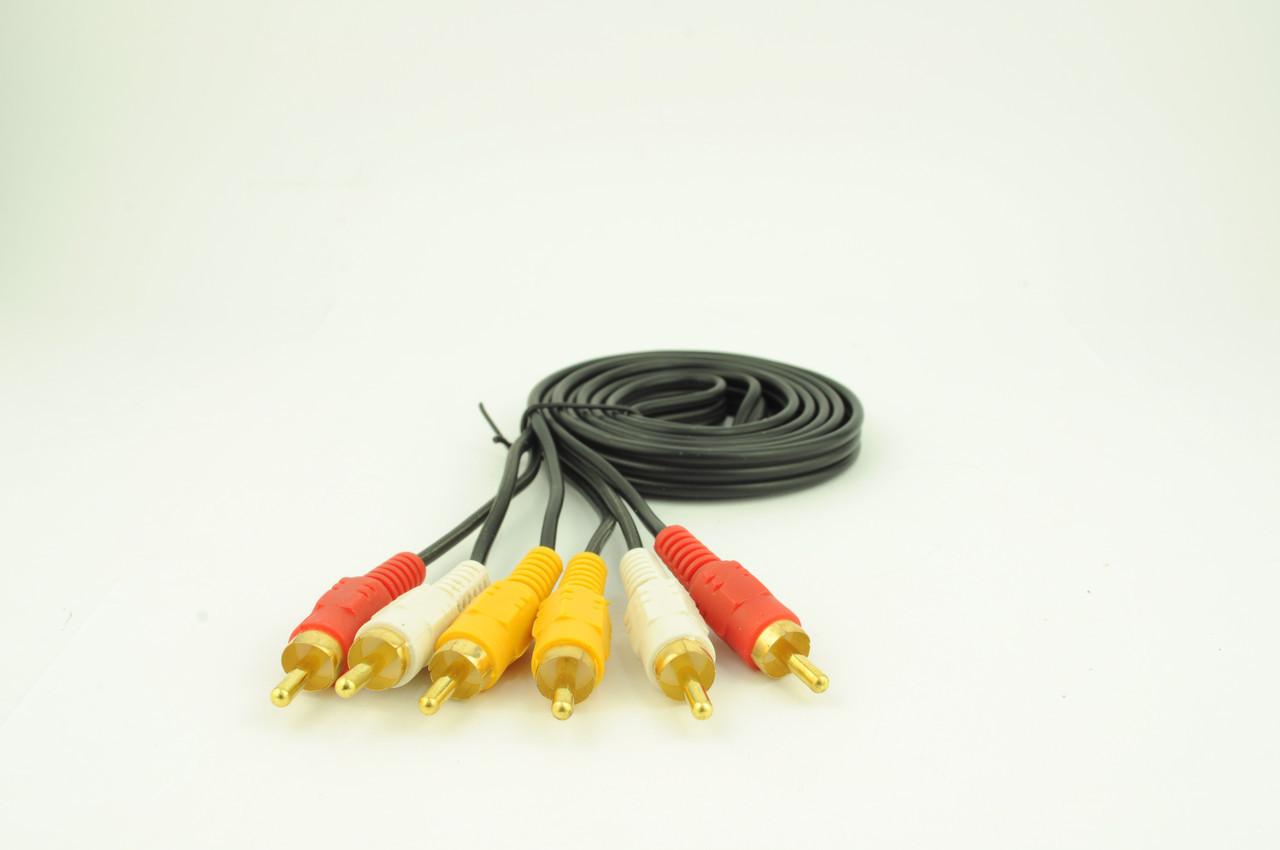 Аудио-кабель 3RCA 1.5M
