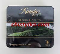 """Цейлонский черный чай """"Kandy's"""" 100 пакетиков (металлическая коробка)"""