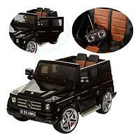 Детский электромобиль Mercedes G55 ELRS черный, мягкое сиденье, двери, автопокраска, колеса EVA, пульт р/у