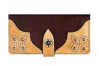 Кожаный кошелек ручной работы Gato Negro Retro мужской, коричневый (мужские кошельки из натуральной кожи)