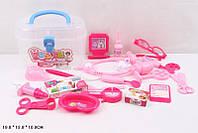 Игровой набор Доктор 8401d-1 стетоскоп,шприц,ножницы,очки,скальпель,в чемодане 19*13*10см