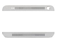 Верхняя + нижняя панель корпуса для мобильного телефона HTC One Max 803n, серебристая